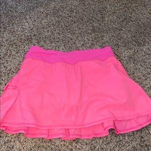 Lululemon hot pink tennis skirt.